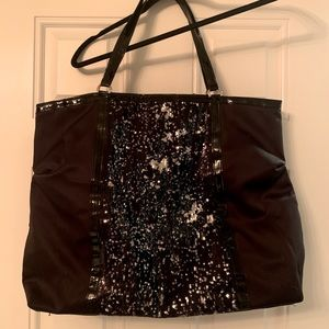 DSW Patent leather and sequin tote bag